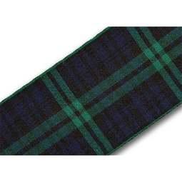 View the Black Watch 40mm Scottish tartan plaid ribbon x 25m reel online at Cake Stuff