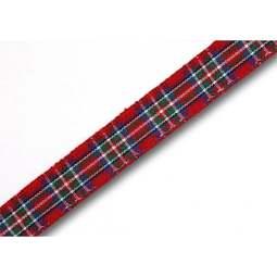 View the Royal Stewart 10mm Scottish tartan plaid ribbon x 25m reel online at Cake Stuff