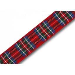 View the Royal Stewart 16mm Scottish tartan plaid ribbon x 25m reel online at Cake Stuff