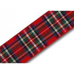 View the Royal Stewart 25mm Scottish tartan plaid ribbon x 25m reel online at Cake Stuff