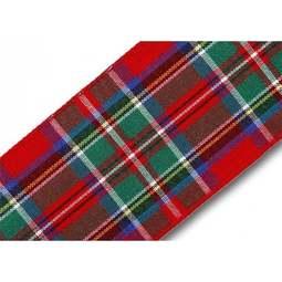 View the Royal Stewart 40mm Scottish tartan plaid ribbon x 25m reel online at Cake Stuff