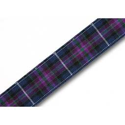 View the Pride of Scotland MODERN 16mm Scottish tartan plaid ribbon x 25m reel online at Cake Stuff
