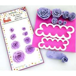 View the SMALLER EASIEST ROSE EVER 2 pk icing & gumpaste flower cutter online at Cake Stuff