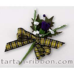 View the Cornish National tartan ribbon buttonhole / cake spray online at Cake Stuff