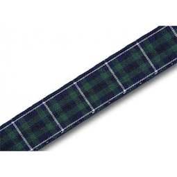 View the Modern Douglas 16mm Scottish tartan plaid ribbon x 25m reel online at Cake Stuff