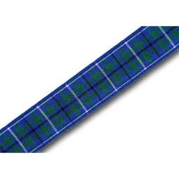 View the Ancient Douglas 16mm Scottish tartan plaid ribbon x 25m reel online at Cake Stuff