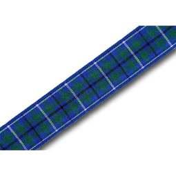 View the Ancient Douglas 16mm Scottish tartan plaid ribbon x 25m reel online at Cake Stuff