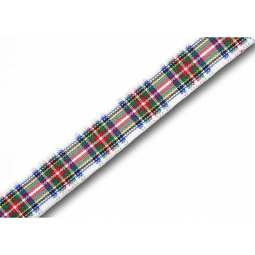 View the Dress Stewart 10mm Scottish tartan plaid ribbon x 25m reel online at Cake Stuff