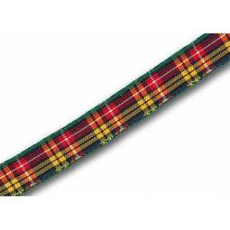 View the Buchanan 10mm Scottish tartan plaid ribbon x 25m reel online at Cake Stuff