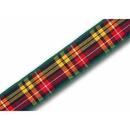 View the Buchanan 16mm Scottish tartan plaid ribbon x 25m reel online at Cake Stuff