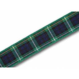 View the Campbell 16mm Scottish tartan plaid ribbon x 25m reel online at Cake Stuff