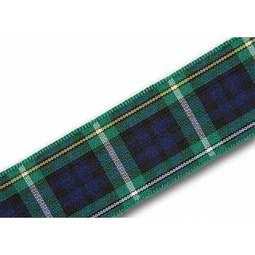 View the Campbell 25mm Scottish tartan plaid ribbon x 25m reel online at Cake Stuff