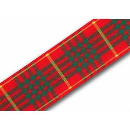 View the Cameron 25mm Scottish tartan plaid ribbon x 25m reel online at Cake Stuff