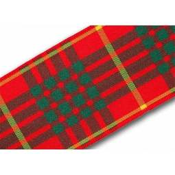 View the Cameron 40mm Scottish tartan plaid ribbon x 25m reel online at Cake Stuff