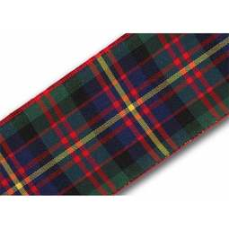 View the Cameron of Erracht 38mm Scottish tartan plaid ribbon x 20m reel online at Cake Stuff