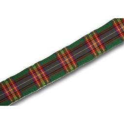View the Cameron of Lochiel 12mm Scottish tartan plaid ribbon x 50m reel online at Cake Stuff