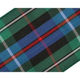 View the MacKenzie / Rose 70mm Scottish tartan plaid ribbon x 25m reel online at Cake Stuff