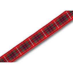 View the Fraser 10mm Scottish tartan plaid ribbon x 25m reel online at Cake Stuff