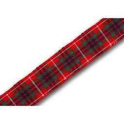 View the Fraser 16mm Scottish tartan plaid ribbon x 25m reel online at Cake Stuff