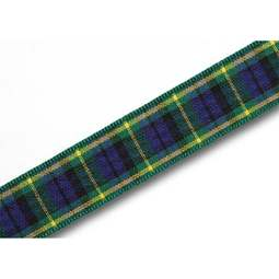 View the Gordon 16mm Scottish tartan plaid ribbon x 25m reel online at Cake Stuff