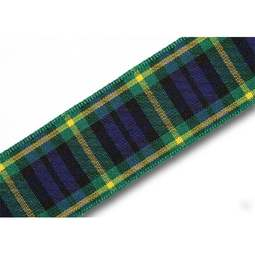 View the Gordon 25mm Scottish tartan plaid ribbon x 25m reel online at Cake Stuff