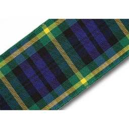 View the Gordon 40mm Scottish tartan plaid ribbon x 25m reel online at Cake Stuff