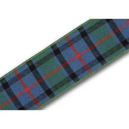 View the Flower of Scotland 25mm Scottish tartan plaid ribbon x 25m reel online at Cake Stuff