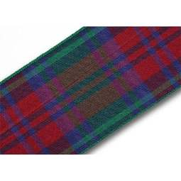 View the Lindsay 40mm Scottish tartan plaid ribbon x 25m reel online at Cake Stuff