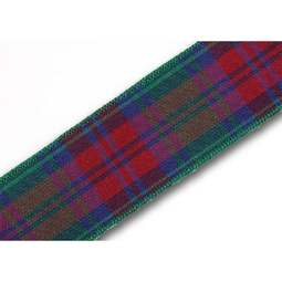 View the Lindsay 25mm Scottish tartan plaid ribbon x 25m reel online at Cake Stuff
