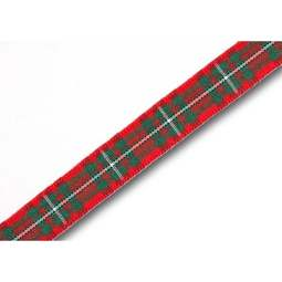 View the MacGregor 10mm Scottish tartan plaid ribbon x 25m reel online at Cake Stuff