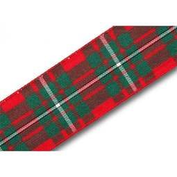 View the MacGregor 25mm Scottish tartan plaid ribbon x 25m reel online at Cake Stuff