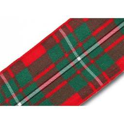 View the MacGregor 40mm Scottish tartan plaid ribbon x 25m reel online at Cake Stuff