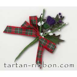 View the MacGregor tartan ribbon buttonhole / cake spray online at Cake Stuff