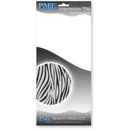 "View the BOLD ZEBRA DESIGN sugarpaste icing impression mat 12"" x 6"" online at Cake Stuff"