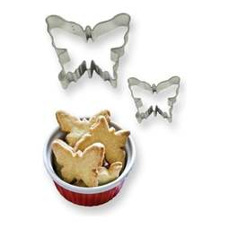 View the BUTTERFLY 2 pc Cookies & Cake metal cutter set online at Cake Stuff