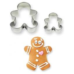 View the GINGERBREAD MAN 2 pc Cookies & Cake metal cutter set online at Cake Stuff