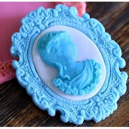 View the OVAL CAMEO BROOCH silicone icing mould online at Cake Stuff