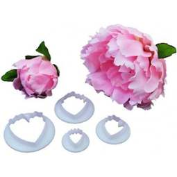 View the Peony 4 piece icing & gumpaste cutter set online at Cake Stuff