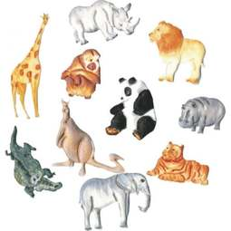 View the Safari / Wild Animals Tappit icing cutter set - 11 designs online at Cake Stuff
