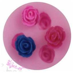 View the Mini rose bud silicone fondant & gumpaste mould - 3 roses online at Cake Stuff