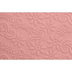 View the PAISLEY & FLOWER pattern embossed mini rolling pin 16.5cm online at Cake Stuff