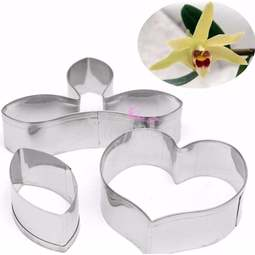 View the 3 pc DENDROBIUM ORCHID icing flower cutter set online at Cake Stuff