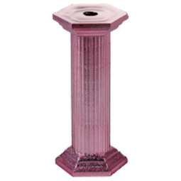 "View the 3½"" pink round wedding cake pillars - pk 4 online at Cake Stuff"