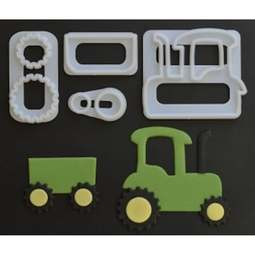 View the Tractor 4 pc icing & gumpaste cutter set online at Cake Stuff