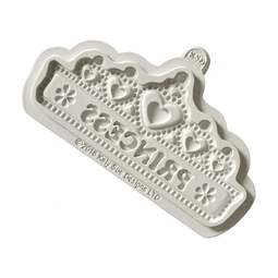 View the PRINCESS TIARA Banner silicone icing mould online at Cake Stuff