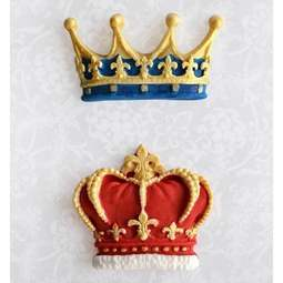 View the CROWNS silicone icing sugarcraft mould online at Cake Stuff