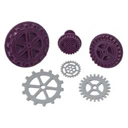 View the STEAMPUNK GEAR 3 pc icing plunger cutter set online at Cake Stuff