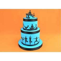 View the YOGA SILHOUETTE 12 pc icing sugarcraft cutter set online at Cake Stuff