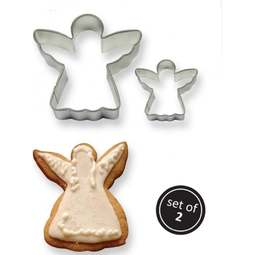 View the ANGEL 2 pc Cookies & Cake metal cutter set online at Cake Stuff