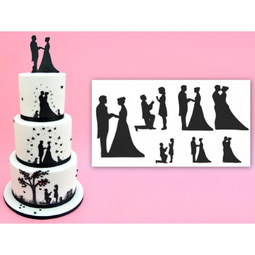 View the WEDDING SILHOUETTE 9 pc icing sugarcraft cutter set online at Cake Stuff